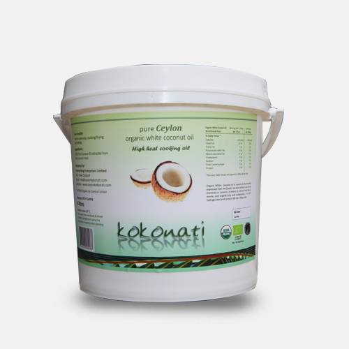 Organic White Coconut Oil 4lt