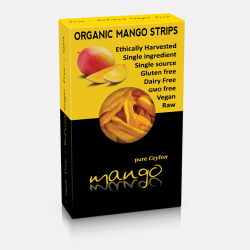 Organic Dried Mango strips 100gr