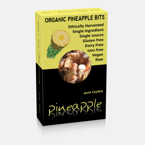 Organic Dried Pineapple Bits 100gr