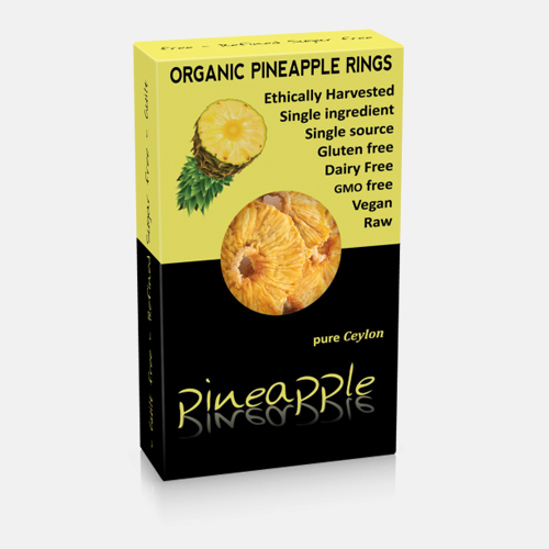 Organic Dried Pineapple Rings 100gr